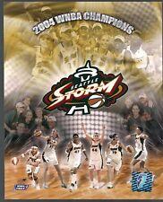 "SEATTLE STORM 2004 WORLD CHAMPIONS 8x10"" PHOTO BIRD JACKSON LENNOX WNBA HOLO COA"