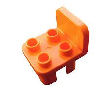 LEGO DUPLO 2 x Chaise en orange meuble cuisine salon salle de bain