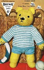 Teddy Bear jumper and pants knitting pattern. (3 sizes)   Laminated copy.