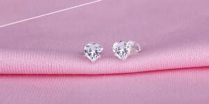 Ohrstecker Ohrringe Herz Herzchen Kristall weiß 925 Sterling Silber