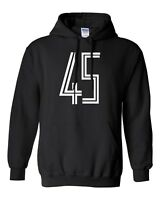 45 To Match Jordan Concords Fashion Gildan Hooded Sweater Hoodie Brand New-Black