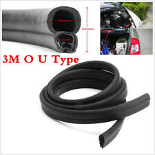 Black Rubber 3M O U Channel Edge Edging Trim Seal Strip Car Door Edge Protector