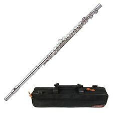 Yamaha YFL 222 Standard Silver Student Flute Offset G C-Foot Joint Nickel + Case