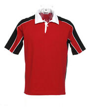 Mens' Gamegear Continental Rugby Shirt, Short Sleeve, Wales, Red, Size Medium