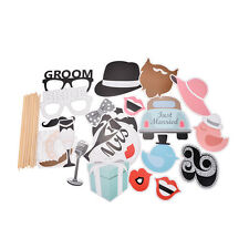 22pcs Party Masks Photo Booth Props Mustache On A Stick Wedding Party Favor CAWB