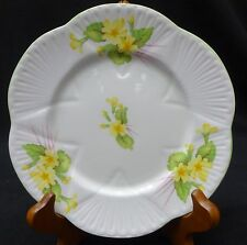 "SHELLEY china PRIMROSE Green trim pattern 13430 Dainty Shape Bread Plate 6-3/8"""