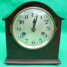 GUSTAV BECKER MAHOGANY 8 DAY TWO TRAIN STRIKING MANTLE CLOCK
