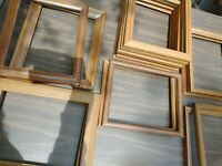 "Vintage 16 Wood PICTURE FRAME Lot Recycle Arts Crafts Project Deco 8x10"" oak"
