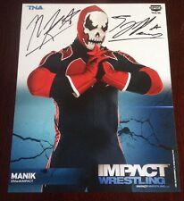 Tna Manik Signed 8x10 Promo Impact Wrestling Tj Perkins Cwc Nxt Proof Wwe