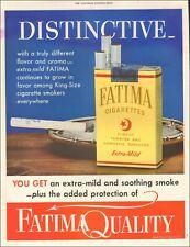 1952 Vintage ad for Fatima Cigarettes`tobacco retro package