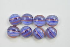 Lot of 8 Jewelry Tone Multi-Color Glass Cabochons NO HOLE Beads 12-13mm