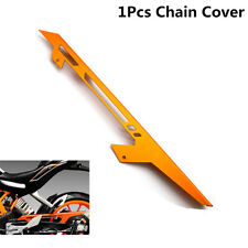 1Pcs Motorcycle Tire wheel Chain Protect Cover Guard Fit For KTM Orange Metal