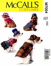 McCall's Sewing Pattern M7004 Dog Costumes Coat Jacket Skirt Hat Steampunk 7004
