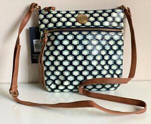 NEW! TOMMY HILFIGER BLUE GREEN MEDIUM CROSSBODY SLING BAG PURSE $69 SALE
