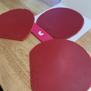 3 Used Butterfly Tenergy 05 Red Table Tennis Rubbers Ping Pong