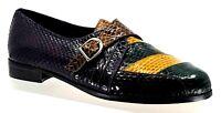Giorgio Brutini Mens 'Colorblock' US12 Genuine Snakeskin Monk-Strap Dress Shoe