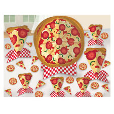 HAPPY BIRTHDAY PIZZA PARTY TABLE DECORATING KIT ~ Birthday Party Supplies Decor