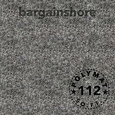 30Ft x 3.75Ft Charcoal Chr33 Polymat Series 25 Latex Backed Carpet