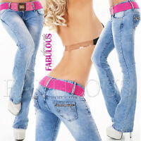 Women's Boot Cut Jeans Designer Pants Trousers Size 6 8 10 12 14 XS S M L XL