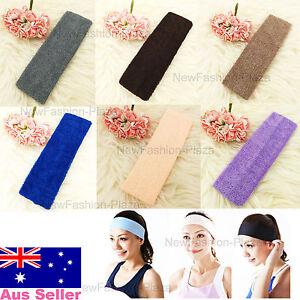 Brand New Sports Yoga Gym Flexible Color Head Hair Band Armband 100% Cotton 3