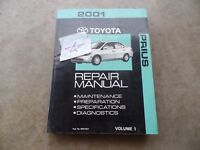 2001 Toyota Prius Repair Service Manual OEM Volume 1 only!!