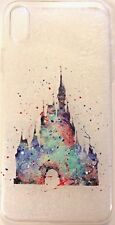 New! Disney Watercolors - Magic Kingdom - Soft Case For iPhone X