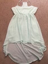 FOREVER 21 Mint Green Flowy Tank Summer Sun Sundress Casual Dress womens Large