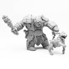 Reaper Minis Dark Heaven: Bones Fire Giant Huntsman with Hell Hound