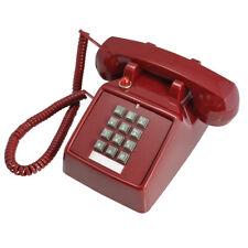 Red Vintage Retro Antique Phone Wired Cored Landline Office Home Desk Decoration