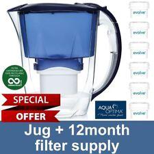 Aqua Optima Oria Water Jug 2.8L + 6 x 60 Day Evolve Filter, 12 Month Annual Pack