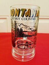 Montana Big Sky Country St. Mary Lake Beer Stein/Mug Glass Barware
