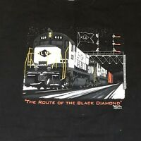"Port & Company Train Railroad ""Route of the Black Diamond"" T-shirt"