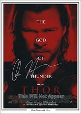 Marvel Thor Chris Hemsworth Signed Autographed Photo Poster Pre-Print Size A4