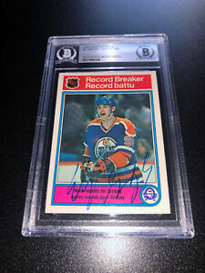Wayne Gretzky Signed 1982-83 O-Pee-Chee OPC Card #1 Edmonton Oilers BAS Slabbed