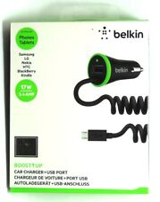 Belkin - Boost Up Universal Car Charger USB with Micro USB Cable - Black/Green
