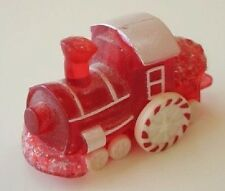 1988 Hallmark Merry Miniatures Christmas Red + Peppermint Train Engine Ngs