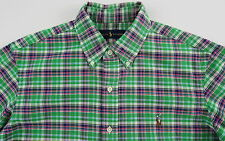 Men's RALPH LAUREN Green Colors Oxford Plaid Shirt M Medium NWT NEW Nice!