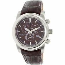 Citizen Men's Eco-Drive AT0550-11X Brown Leather Dress Watch