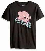 Nintendo Men's 90's Throwback Short Sleeve T-Shirt,, Action Black, Size Large