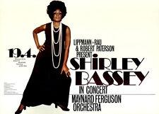 Shirley Bassey in Concert ORIGINAL A1 Konzertplakat 1972 GEROLLT