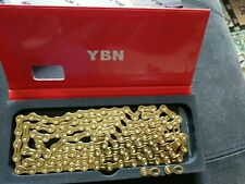 Hot Waxed YBN 11 Speed Gold Chain for Shimano  SRAM Campagnolo 116 UFO Graphene#