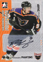 05-06 ITG Patrick Sharp Auto Heroes And Prospects Flyers Blackhawks 2005