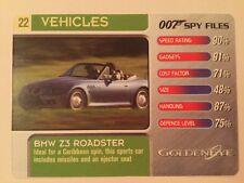 Goldeneye BMW Z3 #22 Vehicles - 007 James Bond Spy Files Card