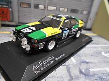 AUDI QUATTRO RALLYE TOUR DE CORSE 1981 #15 Mouton Pons BP Taille 4 MINICHAMPS 1:43