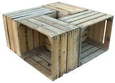 4x sólido cajas de fruta Mercancía B VINO Cajón Manzana con defectos como