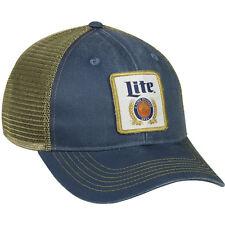 Miller Lite Hat Patch Logo Beer Cap Meshback Mid Profile NEW BEST SELLER