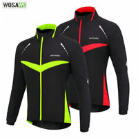 Winter Men's Cycling Jacket Windproof MTB Bicycle Bike Coat Long Sleeve Jersey