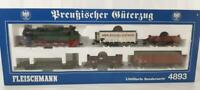 LIMITED EDITION FLEISCHMANN 4893 HO - ROYAL PRUSSIAN KPEV 0-10-0 T16 GOODS SET