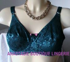 LINGERIE SSOUTIENS-GORGE 90D  SATINEEMBOITANT/REDUCTEURBRODEPETROL
