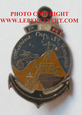 Insigne Transmissions Indochine 1930 POSTE ECOUTE RADIO MARINE CAP SAINT JACQUES